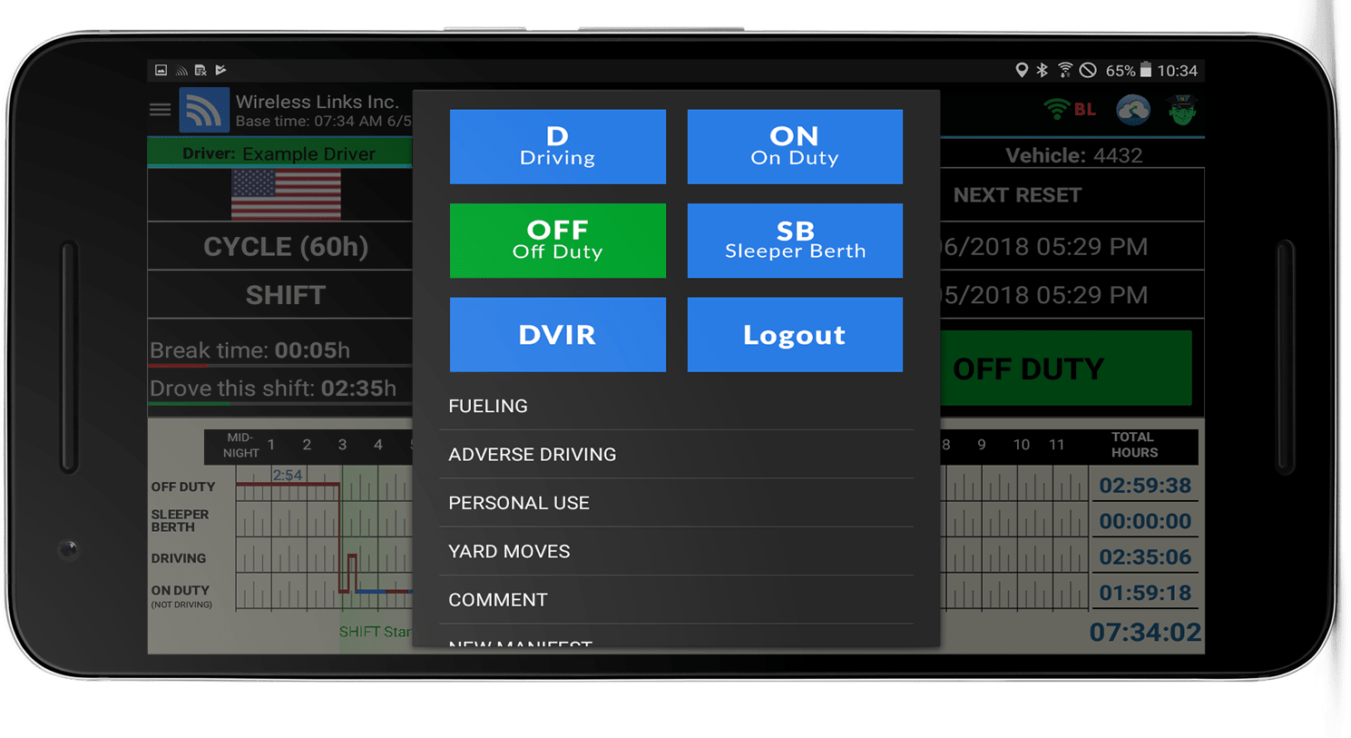 electronic logbook for truckers