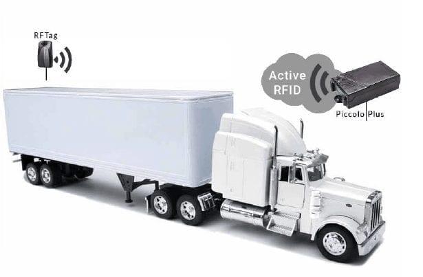 RFID refrigerated trailer temperature monitoring