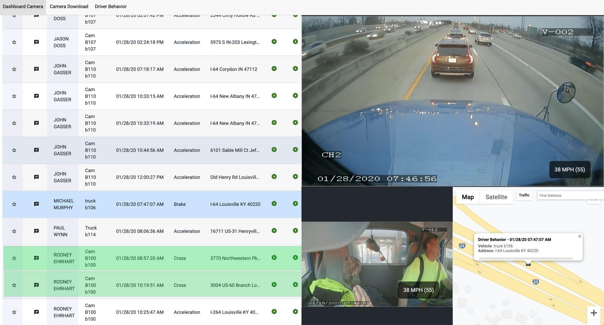 Intelligent fleet dash cams