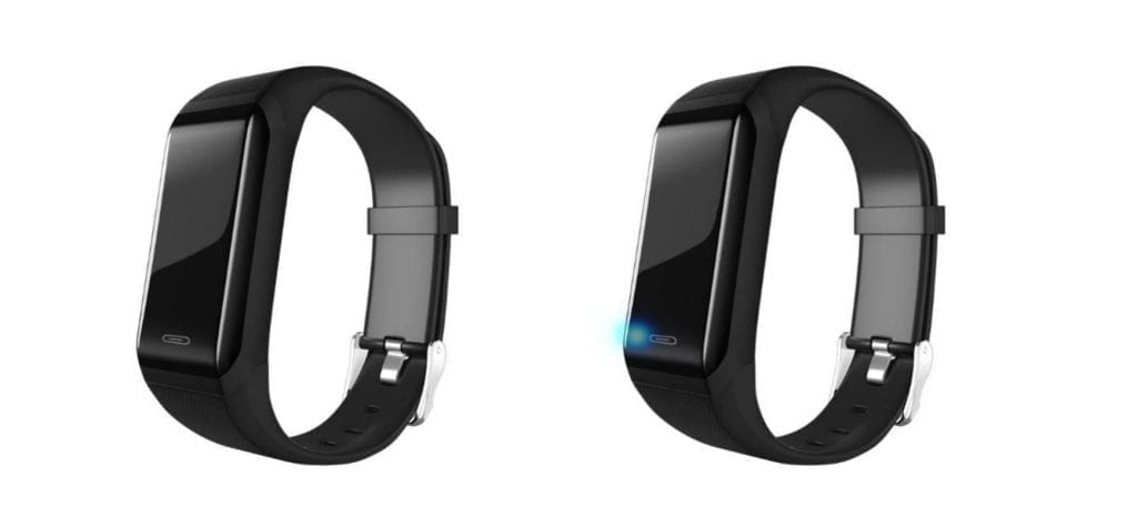 Magic RFID bracelet for auto distance and temperature check