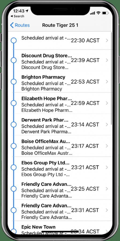 fleet route optimization system via driver mobile phone