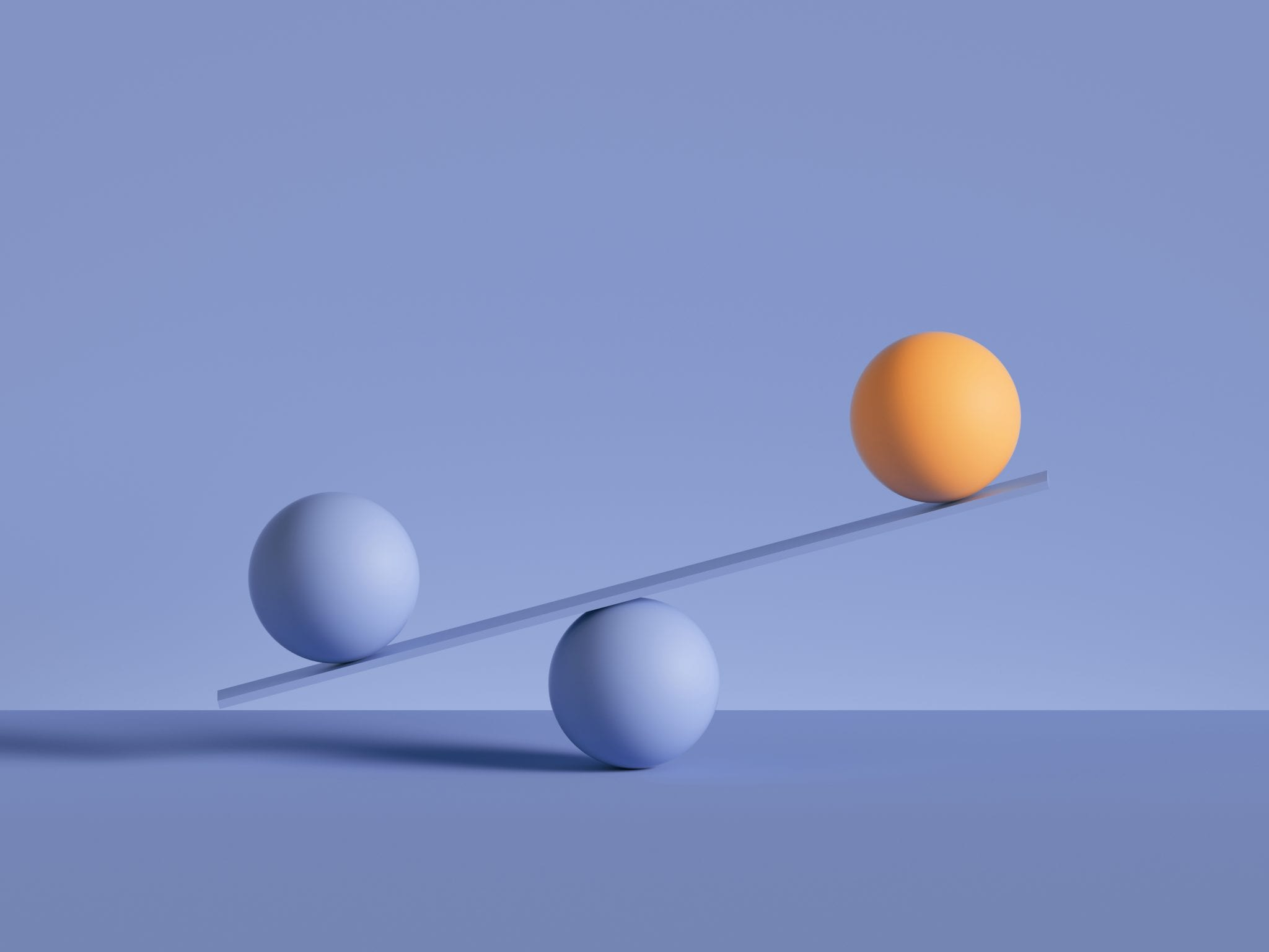 3d,Render,,Balls,Placed,On,Scales,,Isolated,On,Violet,Background.